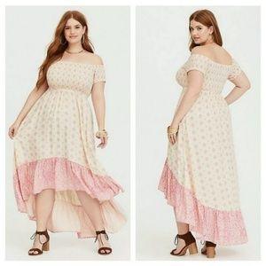 NEW Torrid Off The Shoulder High Low Dress Size 2